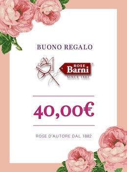 BUONO REGALO 40 EURO @ Rose Barni